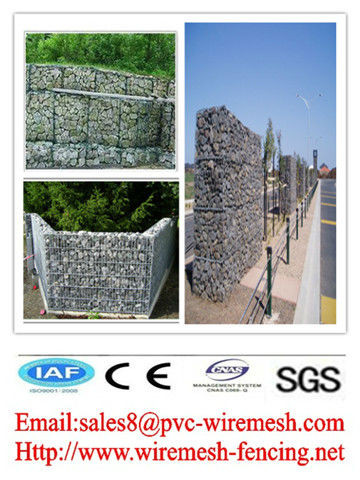 alibaba China CE&ISO certificated electric galvanized+powder coated gabion box(pro manufacturer)