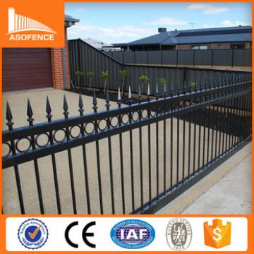 galvanized steel garden fence/40*40 rail black color steel fence