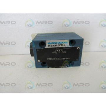 REXROTH 3WE6B60/ EG24N9K4 DIRECTIONAL VALVE *NEW NO BOX*