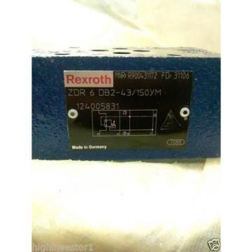 REXROTH DIRECTIONAL VALVE Model ZDR 6 DB2-43/150YM  MNR; R900431172