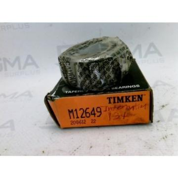 New! Timken M12649 Tapered Roller Bearing