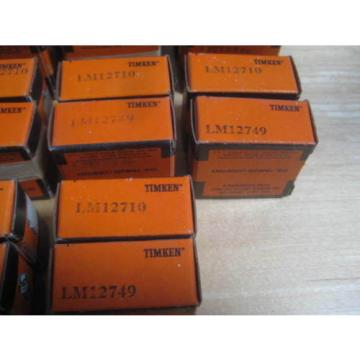 28 TIMKEN TAPERED ROLLER BEARINGS PART LOT 14 LM12710 & 14 LM12749 AS IS