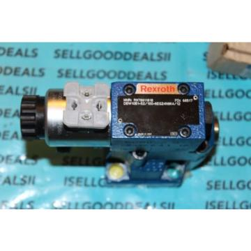 Rexroth R978911818 DNW10B1-52/100-6EG24N9K4/12 Hydraulic Directional Valve New