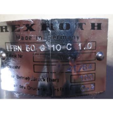 REXROTH MOTOR HYDRAULIC UNIT LFBN 60 G 10 C 1.0 LFBN60G1 C1.0