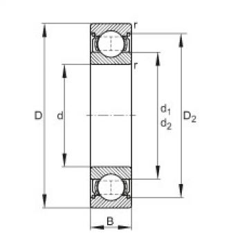 FAG Germany Deep groove ball bearings - 626-2Z