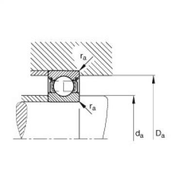 FAG Germany Deep groove ball bearings - S601-X-2Z