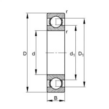FAG Germany Deep groove ball bearings - 627