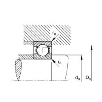 FAG Germany Deep groove ball bearings - 624