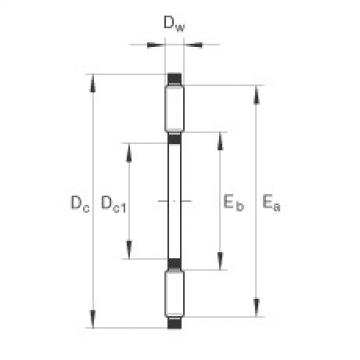 FAG Germany Axial needle roller bearings - TC512