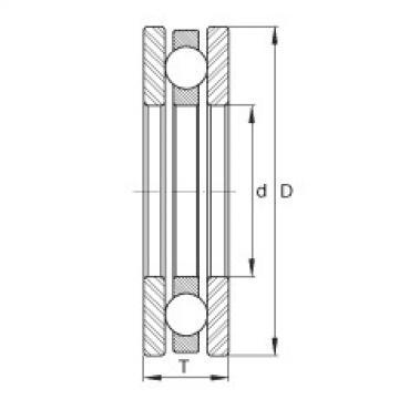 FAG Germany Axial deep groove ball bearings - EW3/8