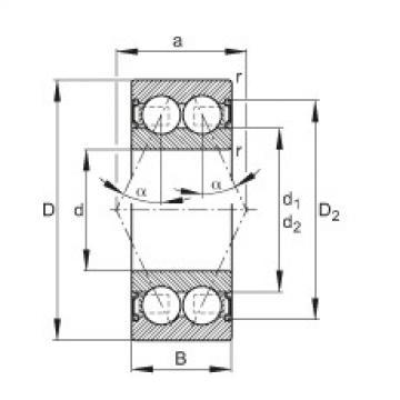 FAG Germany Angular contact ball bearings - 3001-B-2RS-TVH