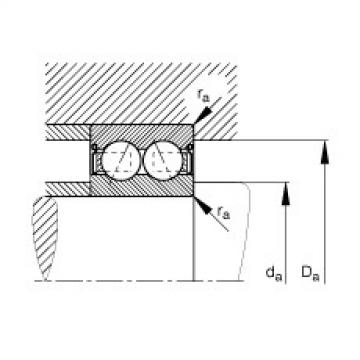 FAG Germany Angular contact ball bearings - 3801-B-2RS-TVH