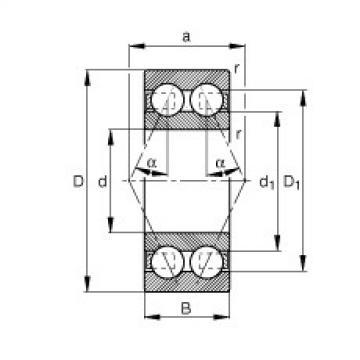 FAG Germany Angular contact ball bearings - 3801-B-TVH