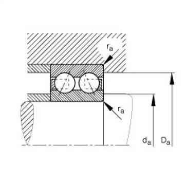 FAG Germany Angular contact ball bearings - 3001-B-TVH
