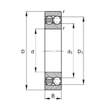 FAG Germany Self-aligning ball bearings - 126-TVH