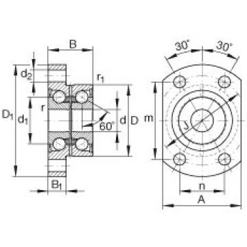 FAG Germany Angular contact ball bearing units - ZKLFA0640-2Z
