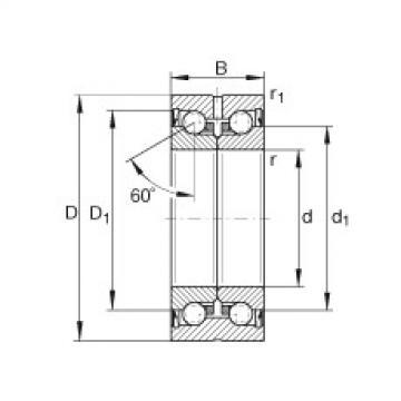 FAG Germany Axial angular contact ball bearings - ZKLN0619-2Z-XL