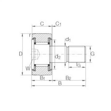 FAG Germany Stud type track rollers - KR16-SK-PP