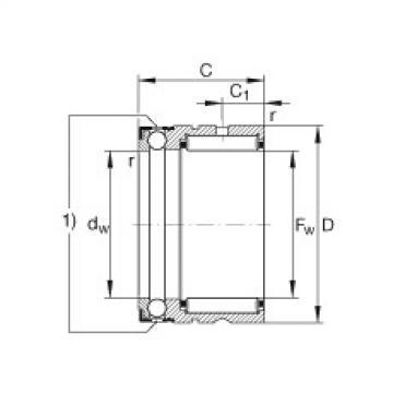 FAG Germany Needle roller/axial ball bearings - NX10-XL