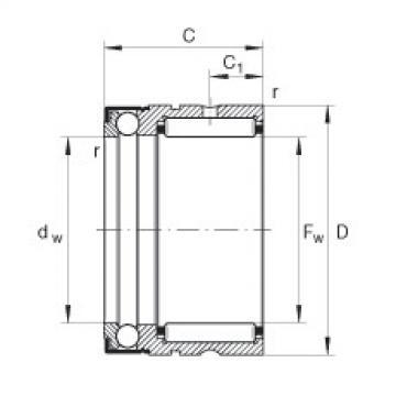 FAG Germany Needle roller/axial ball bearings - NX10-Z-XL