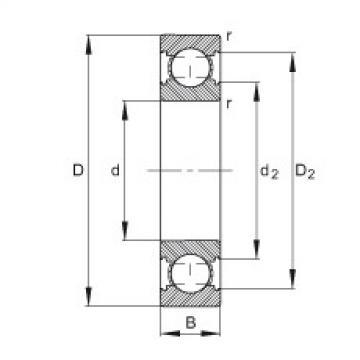 FAG Germany Deep groove ball bearings - 6200-C