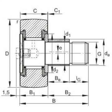 FAG Germany Stud type track rollers - KRE16-PP