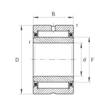 FAG Germany Needle roller bearings - NKI10/16-XL