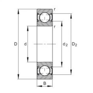 FAG Germany Deep groove ball bearings - 6001-C-2HRS
