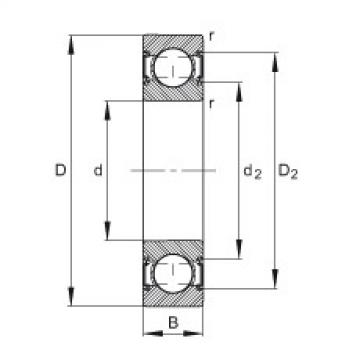 FAG Germany Deep groove ball bearings - 6201-C-2HRS