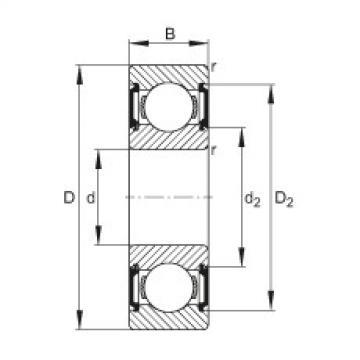 FAG Germany Deep groove ball bearings - 6200-C-2BRS