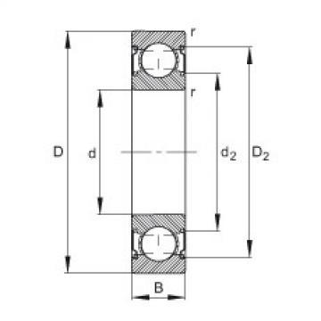 FAG Germany Deep groove ball bearings - 629-C-2Z