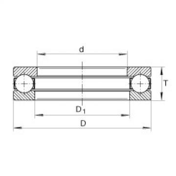 FAG Germany Axial deep groove ball bearings - 2900