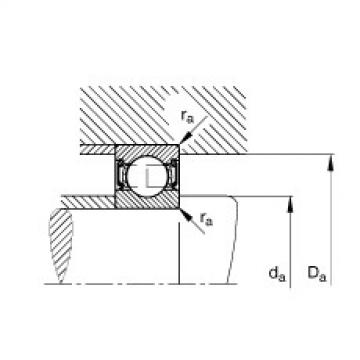 FAG Germany Deep groove ball bearings - 62201-2RSR