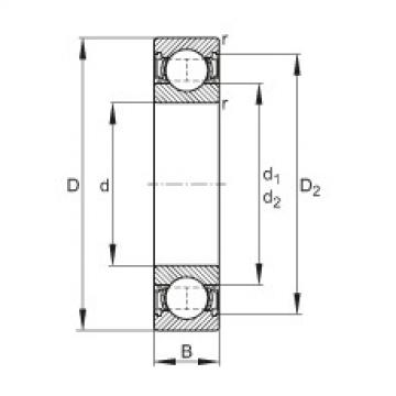 FAG Germany Deep groove ball bearings - 62300-2RSR