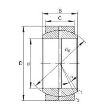FAG Germany Radial spherical plain bearings - GE12-DO