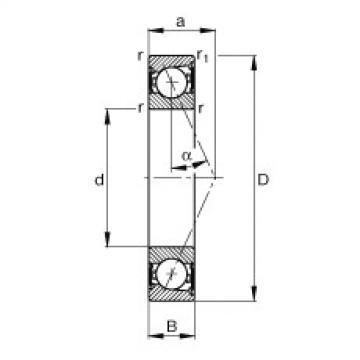 FAG Germany Spindle bearings - B7200-E-2RSD-T-P4S