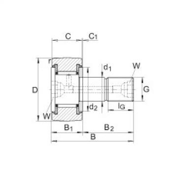 FAG Germany Stud type track rollers - KR22-PP