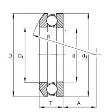 FAG Germany Axial deep groove ball bearings - 53201 + U201