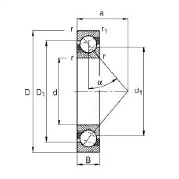 FAG Germany Angular contact ball bearings - 7200-B-XL-JP