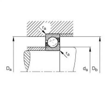 FAG Germany Angular contact ball bearings - 7301-B-XL-JP