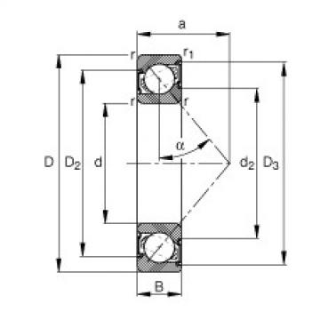 FAG Germany Angular contact ball bearings - 7201-B-XL-2RS-TVP