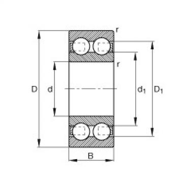 FAG Germany Deep groove ball bearings - 4201-B-TVH