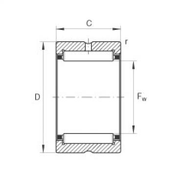 FAG Germany Needle roller bearings - NK12/12-XL