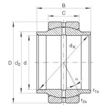 FAG Germany Radial spherical plain bearings - GE12-LO