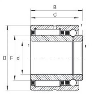 FAG Germany Needle roller/angular contact ball bearings - NKIB5901-XL