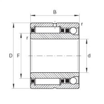 FAG Germany Needle roller/angular contact ball bearings - NKIA5901-XL