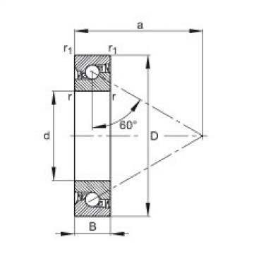 FAG Germany Axial angular contact ball bearings - 7602012-2RS-TVP
