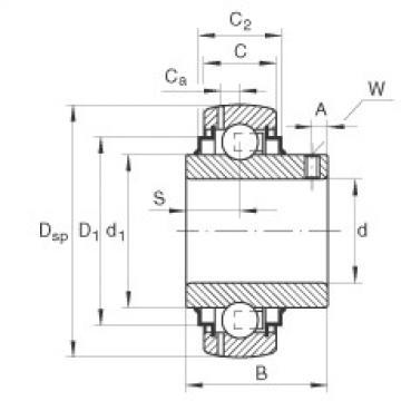 FAG Germany Radial insert ball bearings - GYE12-XL-KRR-B