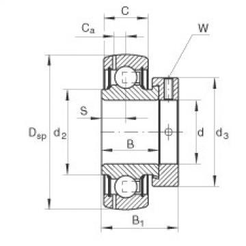 FAG Germany Radial insert ball bearings - GRAE12-XL-NPP-B