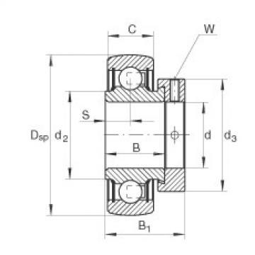 FAG Germany Radial insert ball bearings - RAE12-XL-NPP-B